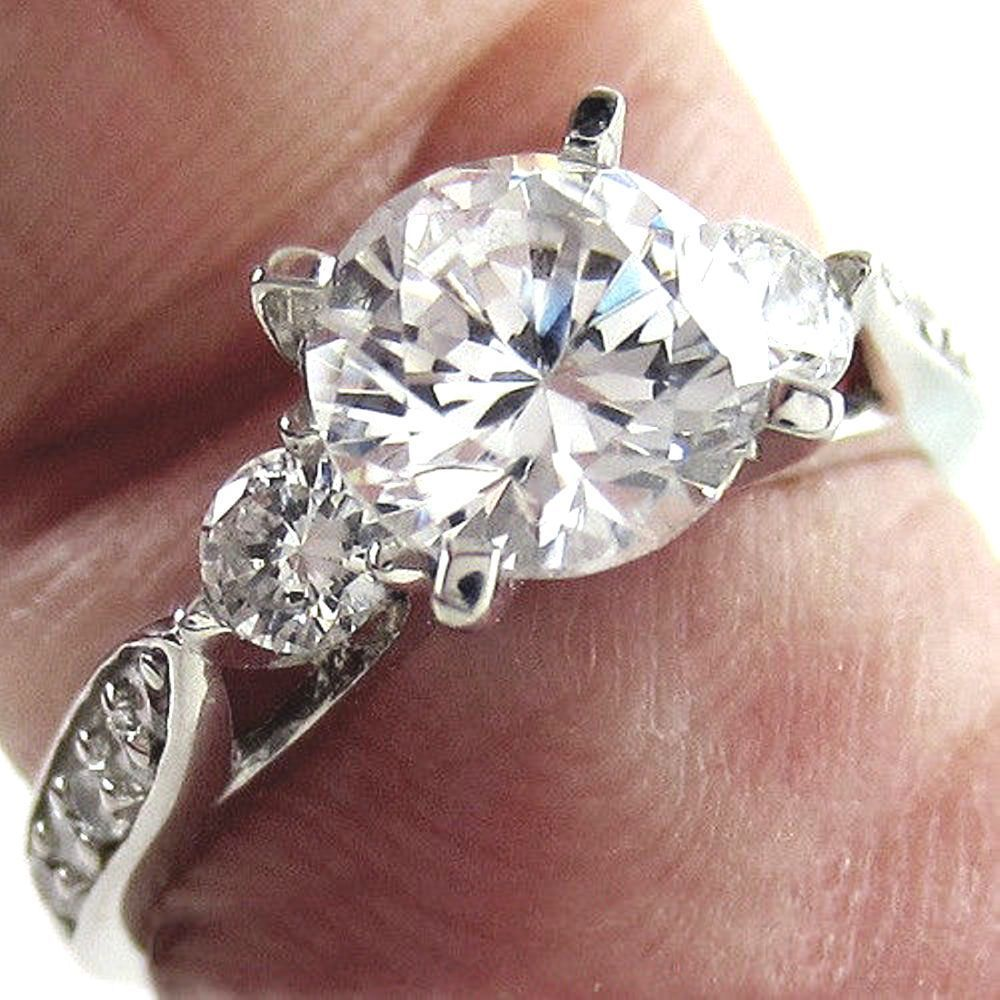 Details about ct round cut moissanite wedding band engagement
