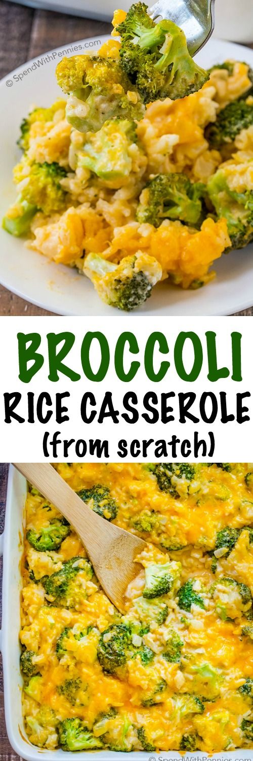 This Broccoli Rice Casserole Is Made From Scratch And -3093