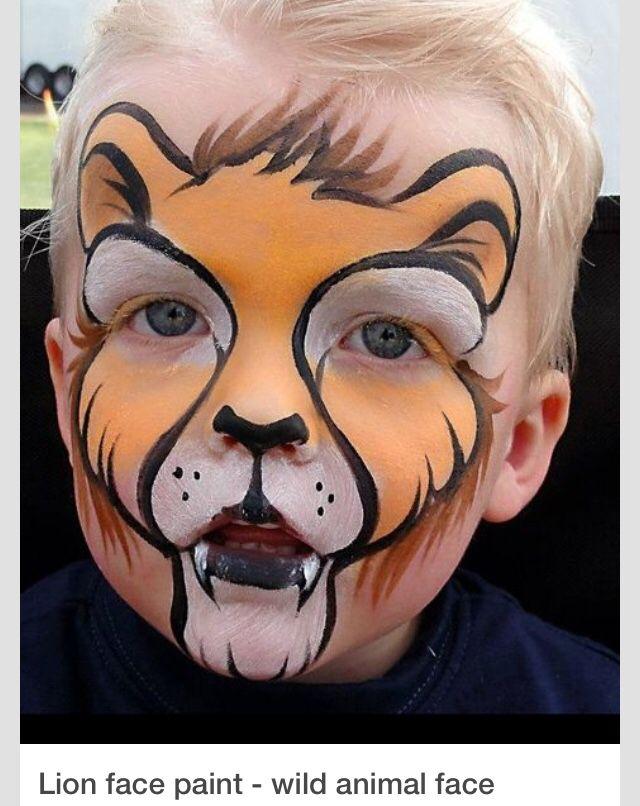 Sir Lion Hayvan Yuzleri Fantastik Makyaj Ve Yuzler