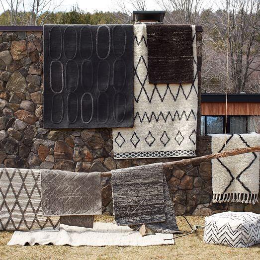 Sweater Wool Rug 9 X12 Charcoal Gray West Elm Area Rugs Throw Rugs Solid Rugs Floor Mats Consultorio In 2019 Rugs Wool Rug Grey Rugs