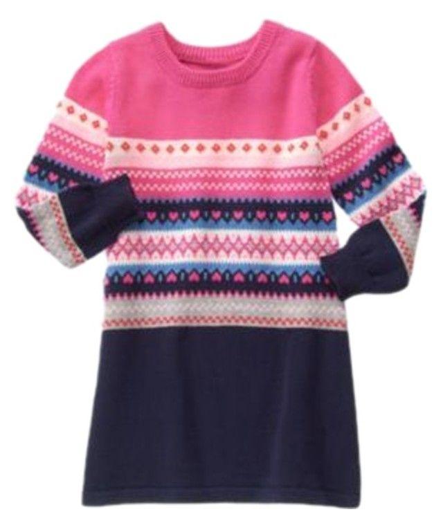 Gymboree Fair Isle Flurry Heart Sweater Dress | Heart sweater ...