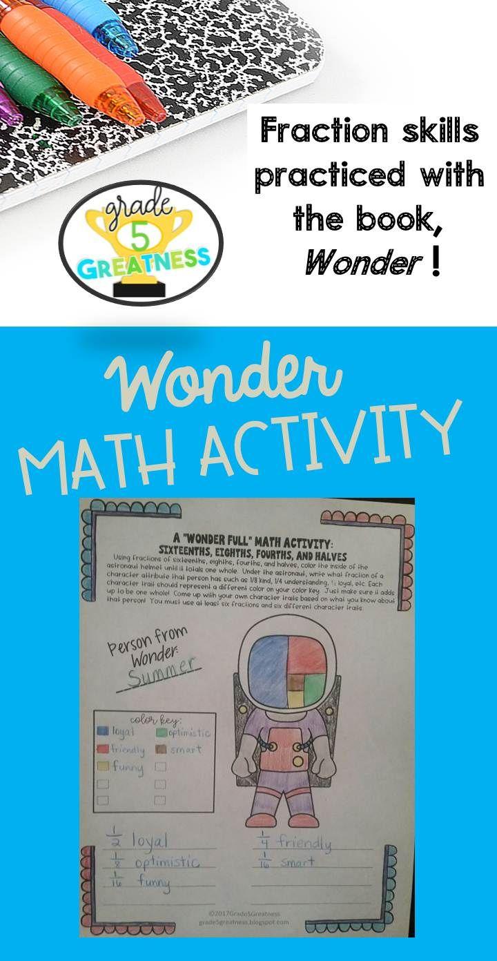Wonder Math Activity for Novel | Math Helps for Grades 4-6 ...