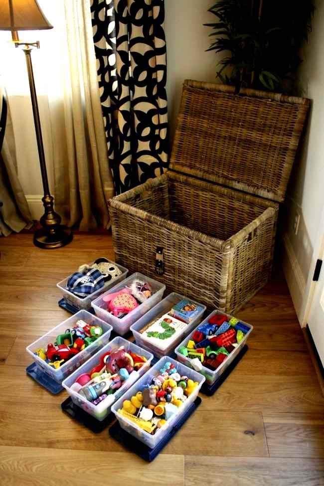 Aufbewahrung Spielzeug Wohnzimmer Box Spielsachen Korb Idee Ordnung In 2020 Creative Toy Storage Toy Storage Toy Organization