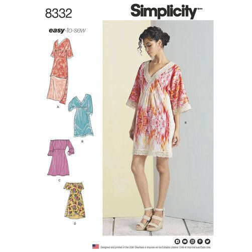 Sewing Pattern for Misses Summer Dresses, Simplicity Pattern 8332 ...