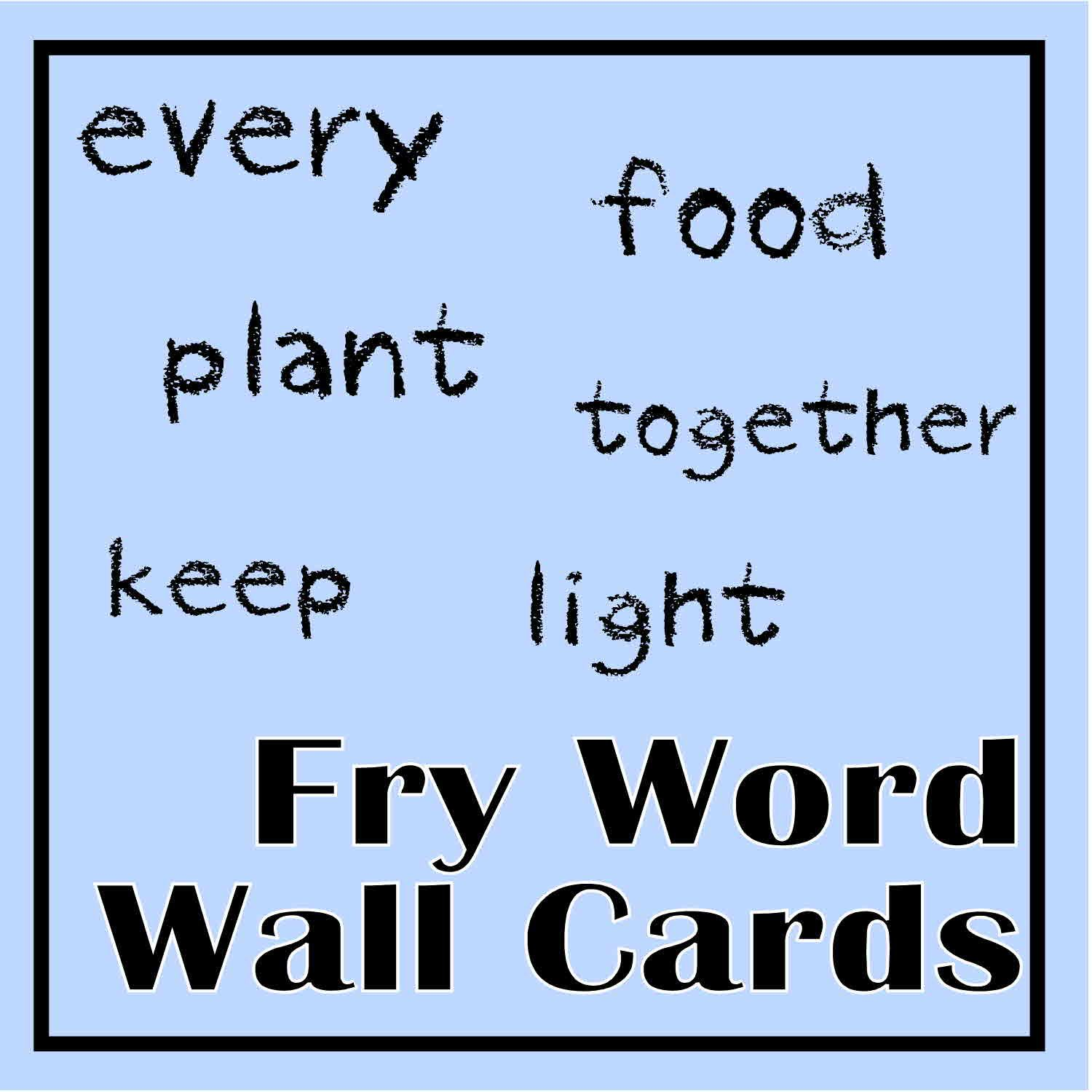Fry Word Wall Cards