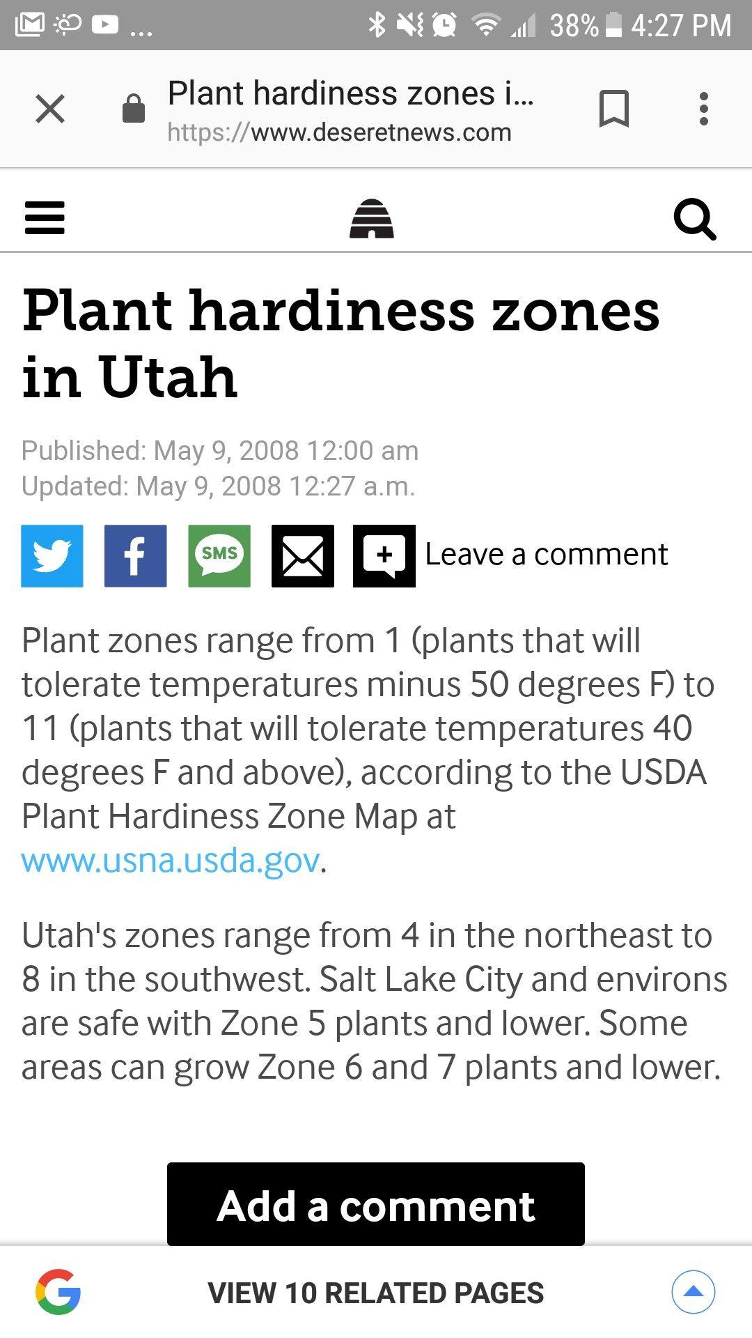 Utah S Planting Zones