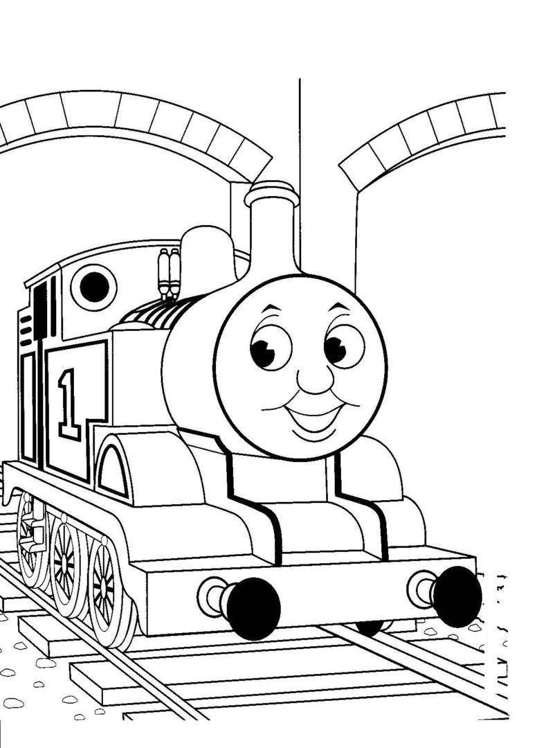 Thomas the train coloring pages for toddlers - Free Printable Train Coloring Pages For Kids