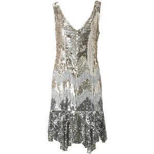 sparkly flapper dress | Sequin flapper dress - Polyvore | Flapper ...