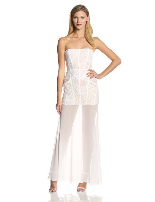 Fantastic twist on a classic lace dress or maxi dress. Love the details. Wish I had somewhere to wear it! Get the look at www.whitepartydressonline.com!