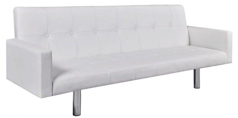 Canape Lit Capitonne Simili Cuir Blanc Arania Lit Confortable Canape Lit Canape