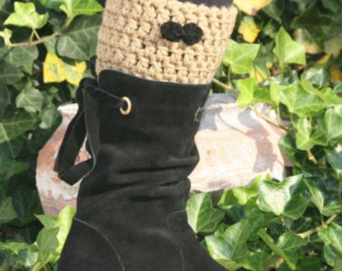 CROCHET PATTERN - The Irish Sea Boot Cuff ---Make any size (matches Irish Sea Ear Warmer) #irishsea