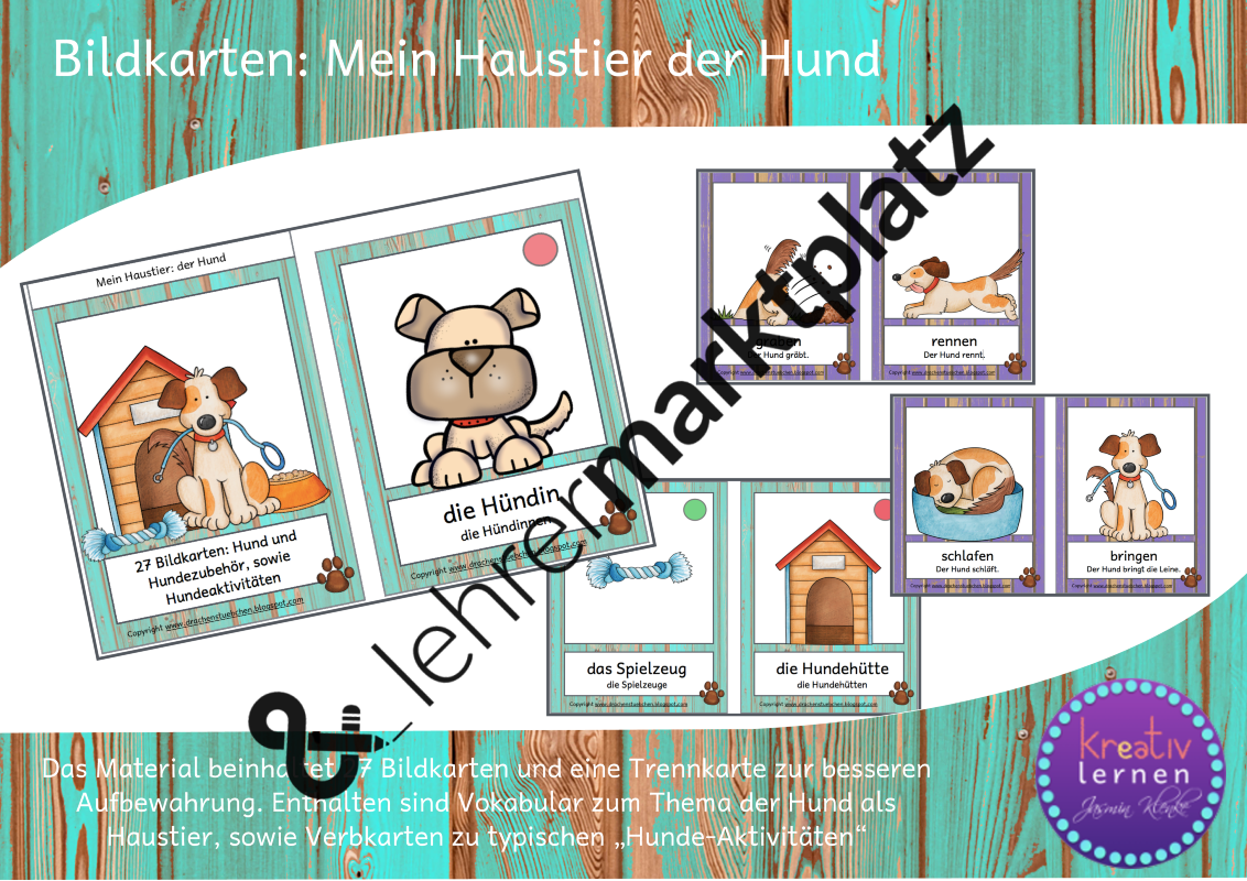 Bildkarten Mein Haustier Der Hund Unterrichtsmaterial In Den Fachern Daz Daf Sachunterricht Haustier Bildkarten Hund Aktivitaten