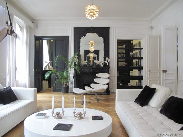 D co moderne haussmanien deco interieure pinterest for Decoration interieur appartement haussmannien