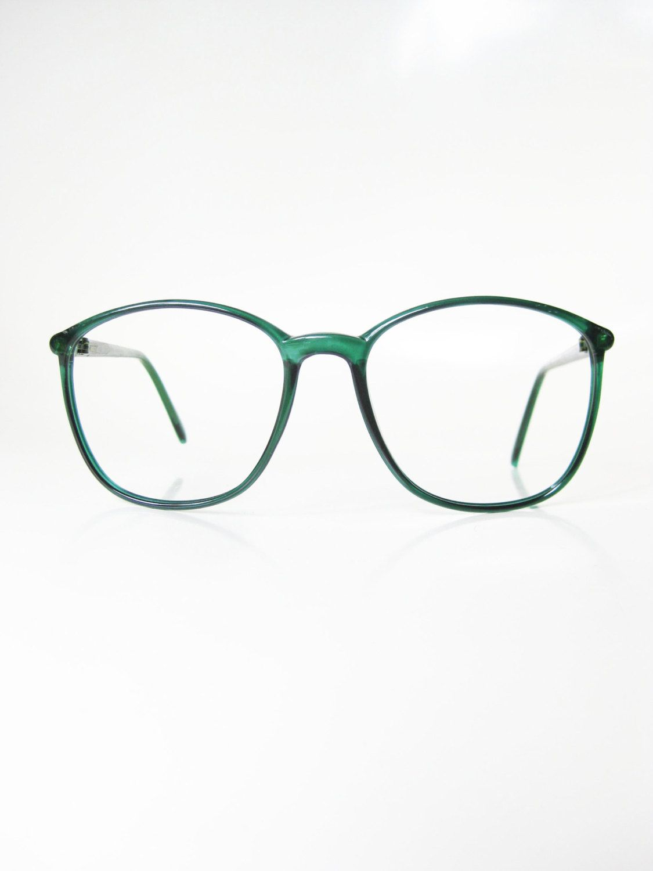 Vintage Lacoste Eyeglasses 1980s Green Round Wayfarer Womens Ladies ...