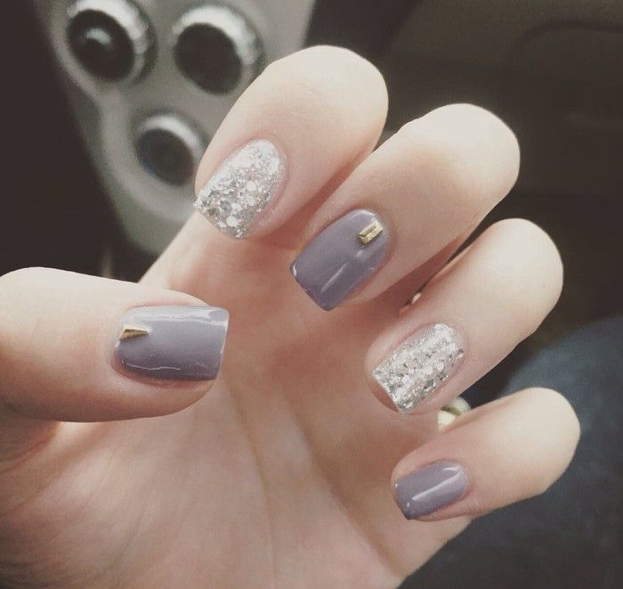 nail art grey inspiration   designs and ideas for winter and DIY ...