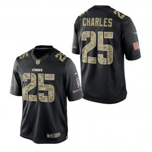 d7730453 Kansas City Chiefs Nike NFL Jamaal Charles #25 Salute To Service Jersey  (Black)