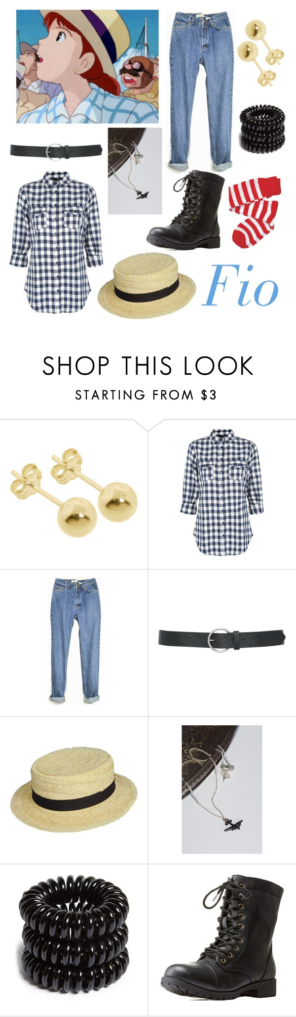 """""""PORCO ROSSO: Fio"""" by bluedaisywhale ❤ liked on Polyvore featuring Eternally Haute, M&Co, 16 Braunton, Invisibobble, Charlotte Russe, women's clothing, women, female, woman and misses"""