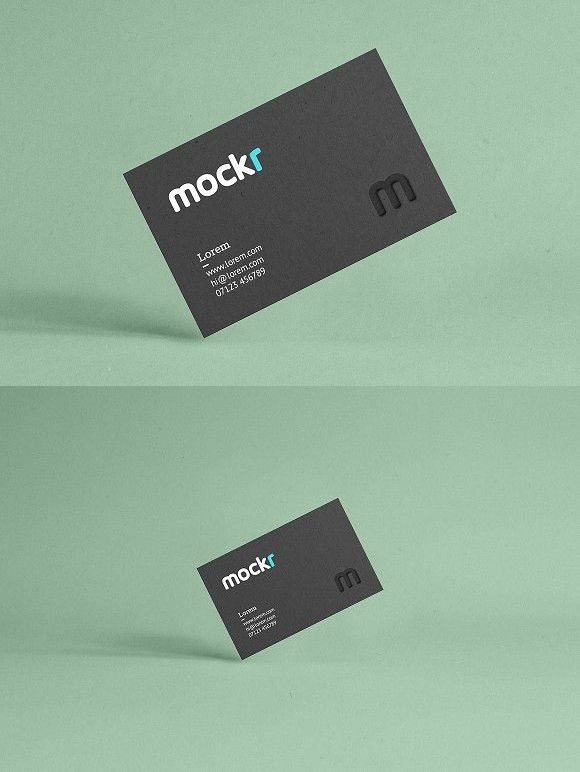 Realistic Business Card Mockup Psd. Photoshop Textures