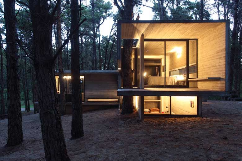 Love the way this house incorporates  the trees! House JD, Mar Azul, Buenos Aires Province, Argentina | BAK architects