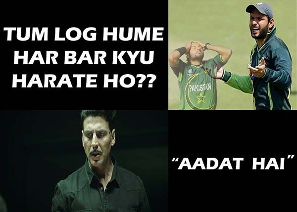 India Vs Pakistan World Cup 2015 Some Of The Best Funny Memes Jokes And Comments Pakistan Funny Funny Memes Best Funny Photos