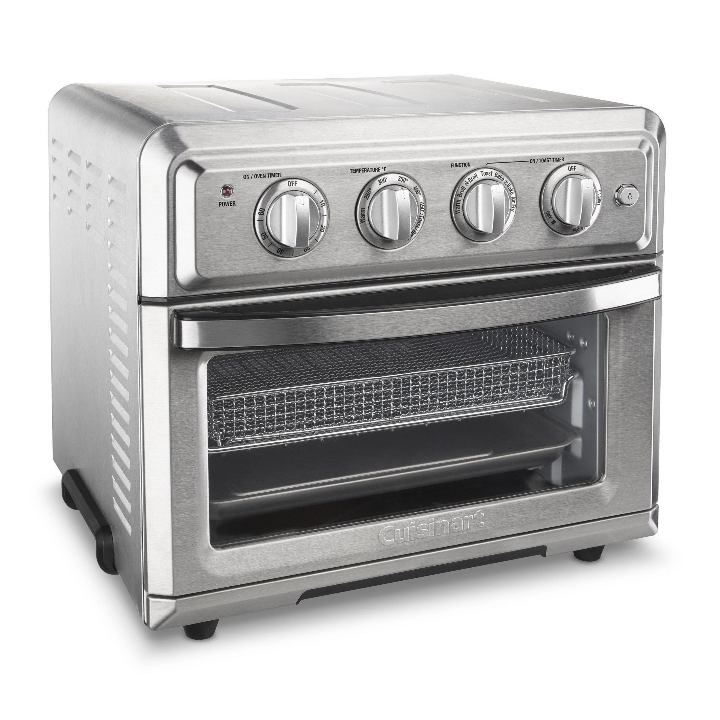 Cuisinart Toa 60 Stainless Steel Combination Air Fryer Toaster Oven With Images Convection Toaster Oven Toaster Oven Stainless Steel Oven