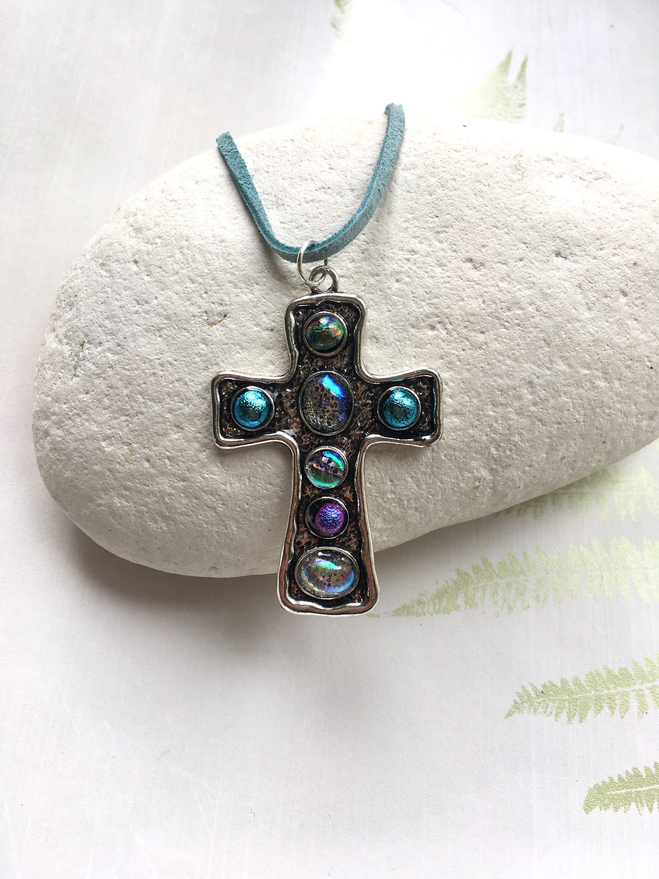 Pretty goth pendant duck egg blue necklace long cross pendant pretty goth pendant duck egg blue necklace long cross pendant religious cross aloadofball Images