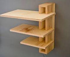 Resultado De Imagen Para Rounded Corner Diy Rack Wooden Wall Shelves Wood Shelf Floating