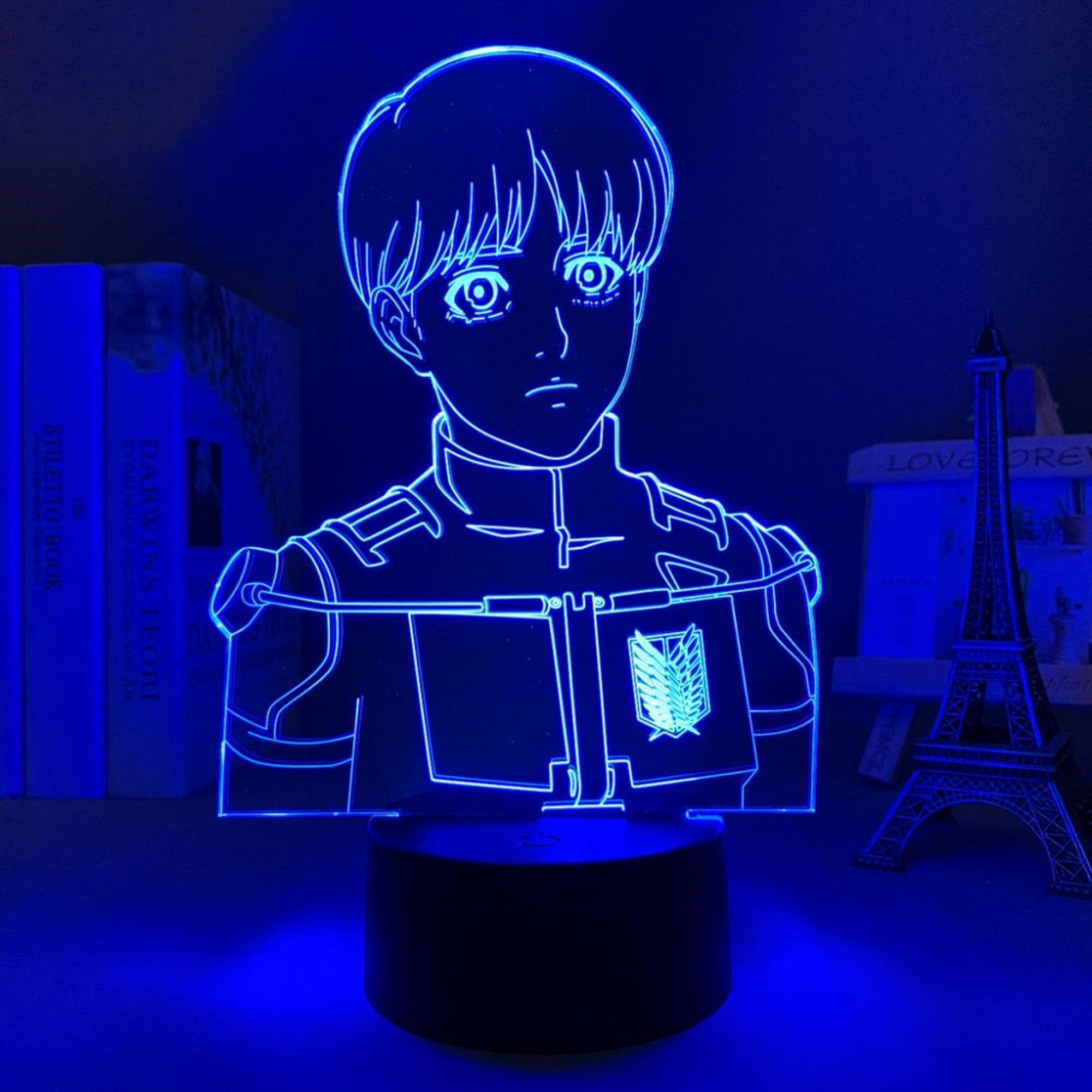 Attack on Titan Armin Arlert 3D Night Light AOT LED Lamp Anime Gifts 3D Illusion Anime LED Light Room Light Home Decor Colourful Light