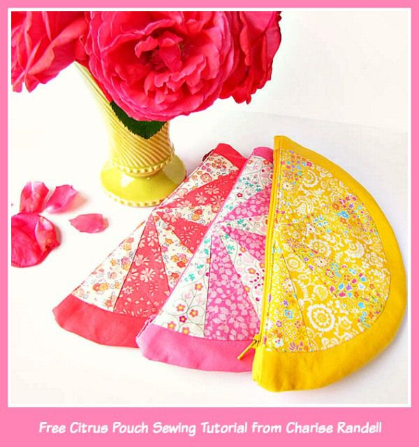 Liberty Citrus Pouch Sewing Project by Cherise Creates
