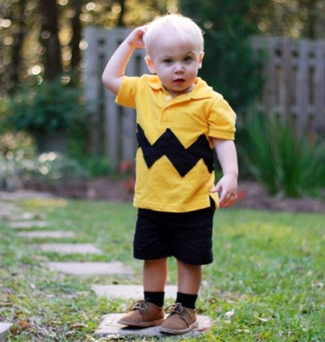 Easy And Adorable Halloween Costume For All The Toddlers That We Charlie Brown Halloween Costumes Toddler Boy Halloween Costumes Toddler Halloween Costumes Diy
