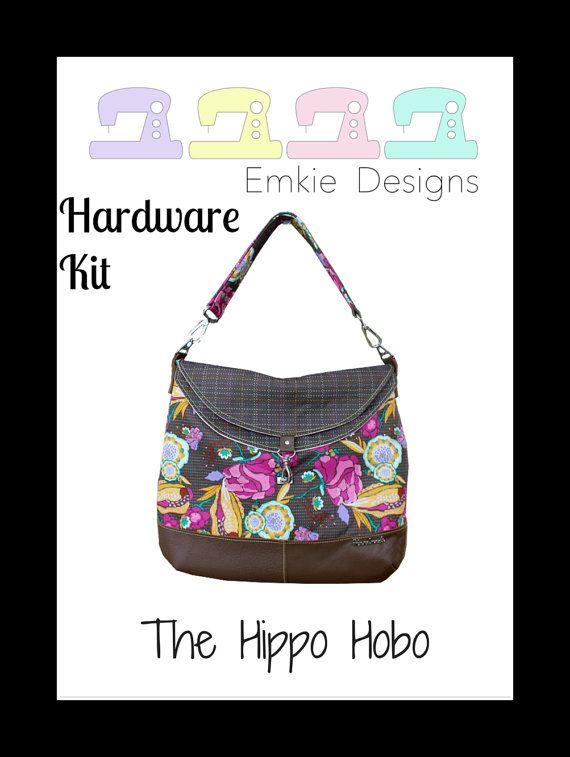 The Hippo Hobo - Emkie Designs - Hardware Kit