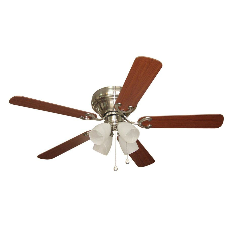 Harbor Breeze 52 Inches Cheshire Ii Brushed Nickel Indoor Ceiling Fan Included 5 Na 4x60w