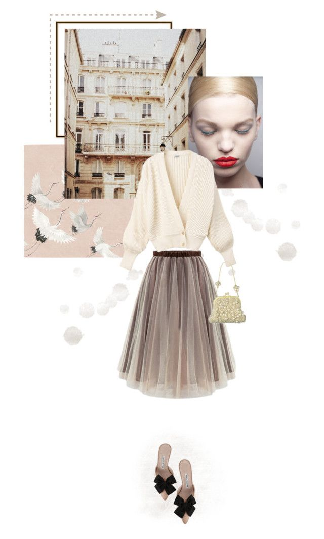 """""""Tranquility"""" by tasteofbliss ❤ liked on Polyvore featuring WithChic, Manolo Blahnik and Jil Sander"""