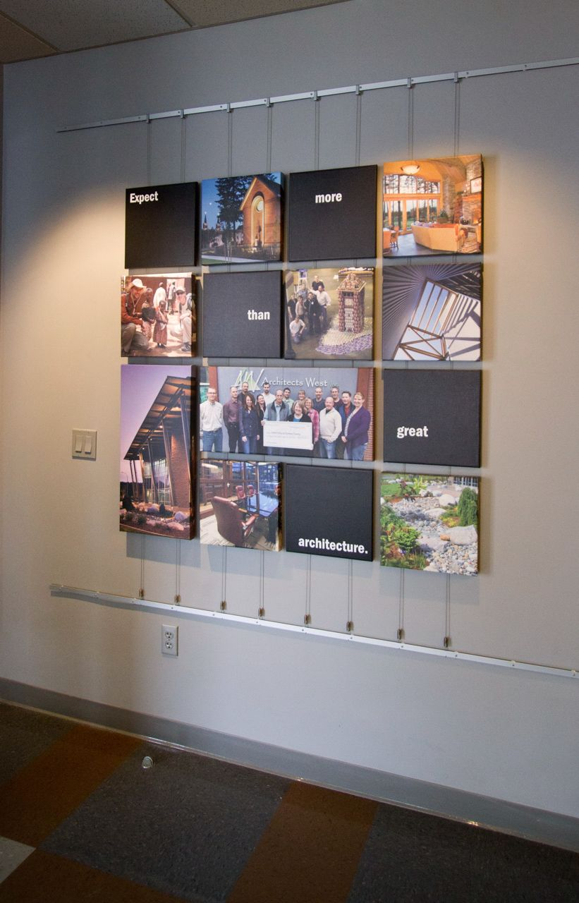 Commercial as hanging systems if you 39 re a user for Cd mural wall display