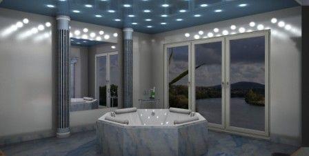 Badezimmer Sternenhimmel ~ Exklusives wellness badezimmer mit whirlpoolwanne. azul macauba