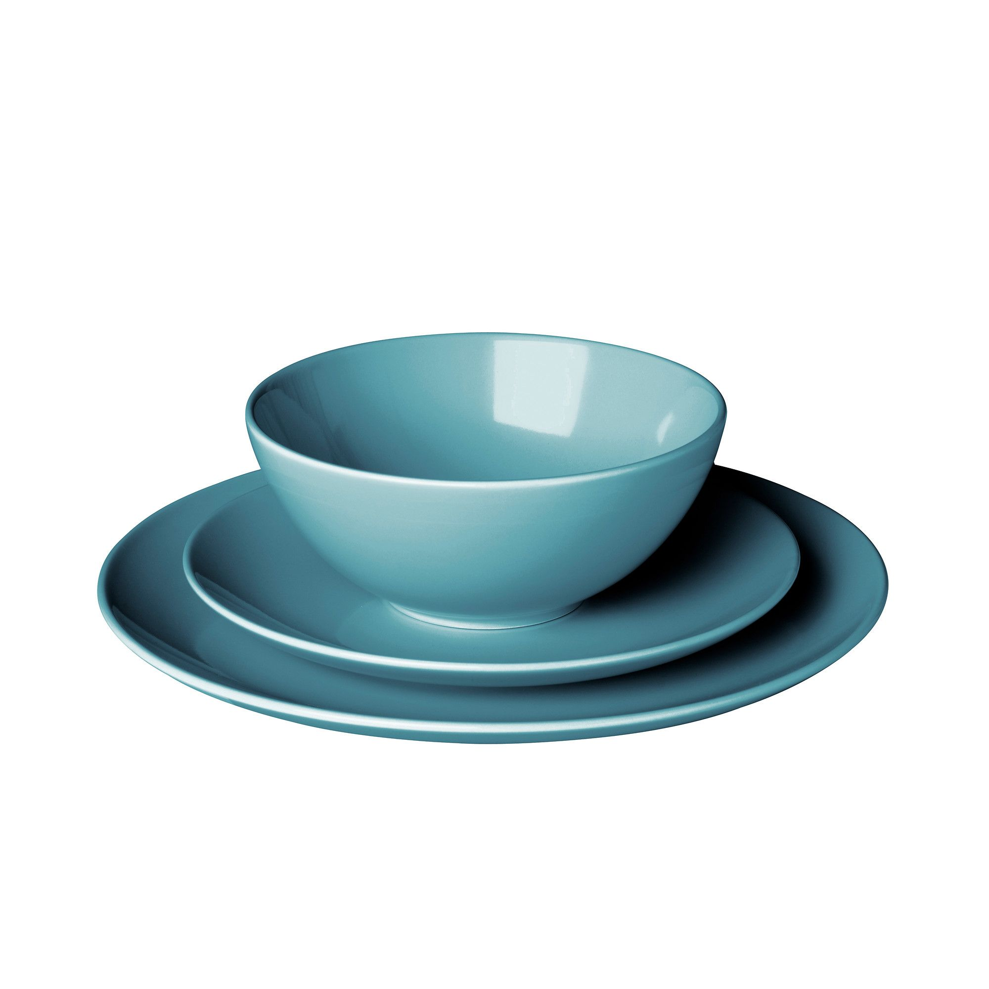 FÄRGRIK 18-piece dinnerware set, turquoise | Dinnerware, Kitchens ...