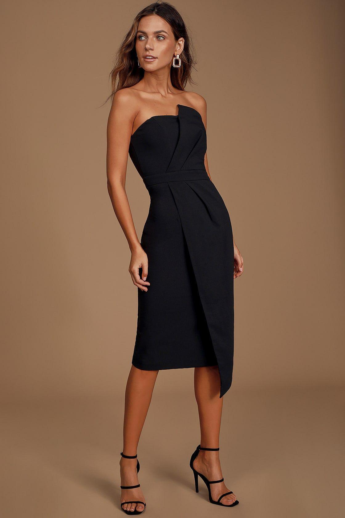 Never Been Better Black Strapless Midi Dress Strapless Midi Dress Lace Midi Dress Black Strapless Midi Dress [ 1680 x 1120 Pixel ]