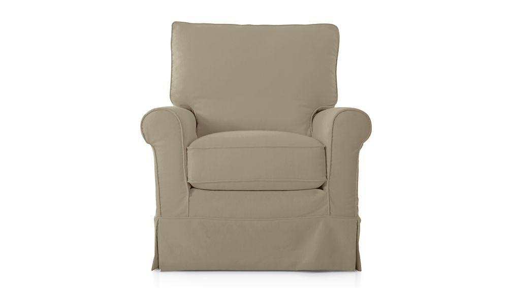 Harborside Slipcovered 360 Swivel Chair Snow Slipcovers For Chairs Swivel Glider Slipcovers