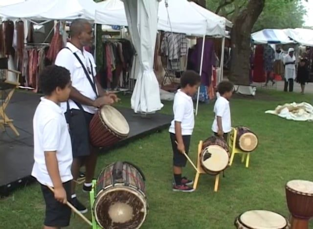 Sampler video of the main stage acts, pavilions, marketplace, fine arts, and family activities.