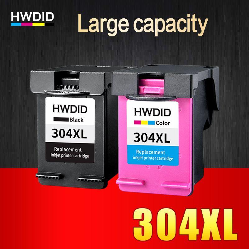 2 Pack 304xl Ink Cartridge Replacement For Hp 304 N9k08ae N9k07ae Use For Hp Deskjet 3700 3720 3730 3732 Printers Ink Cartridge Cheap Ink Printer Cartridge