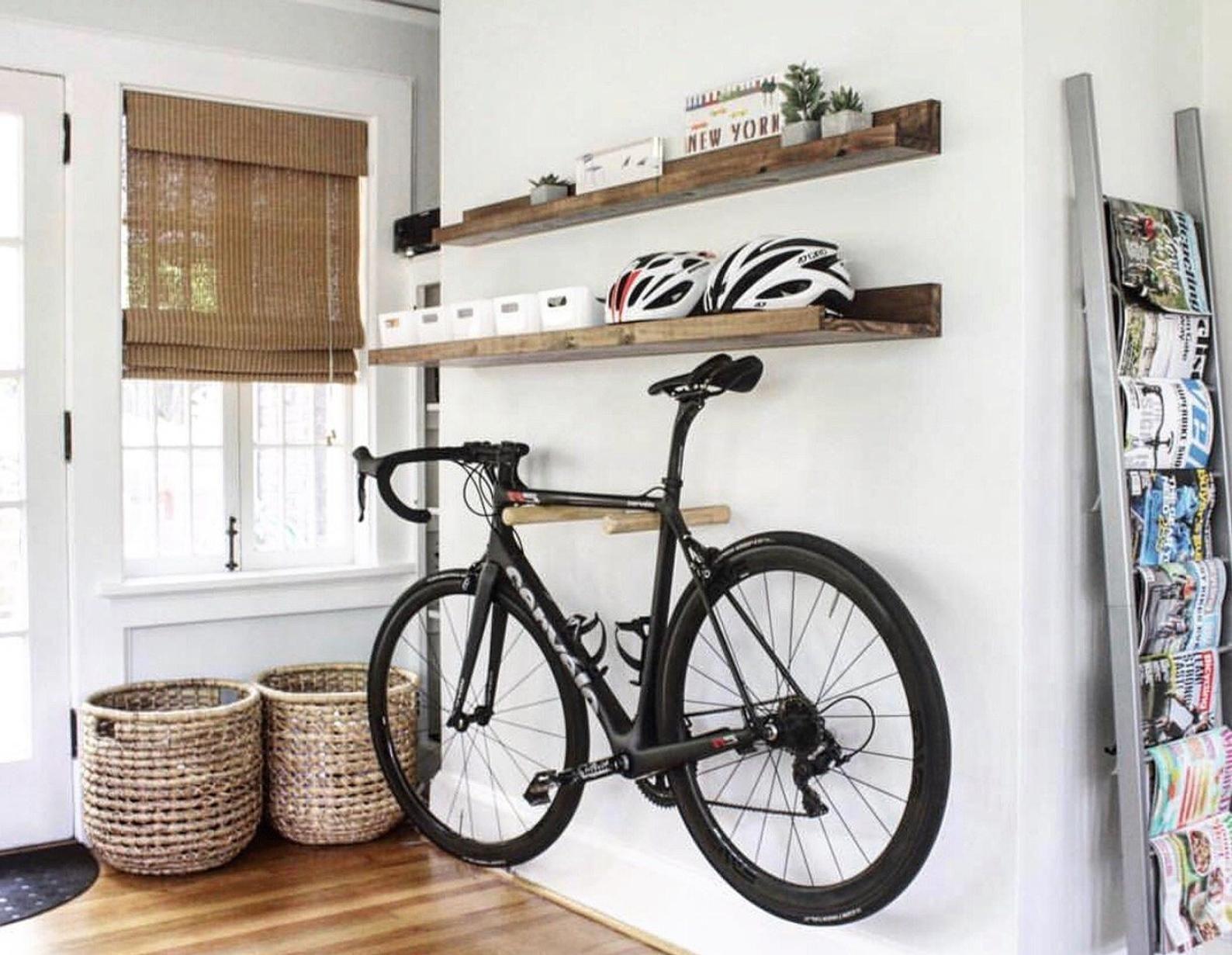 Wooden Bike Rack Bike Hanger Bike Wall Mount Bike Hanger Bike