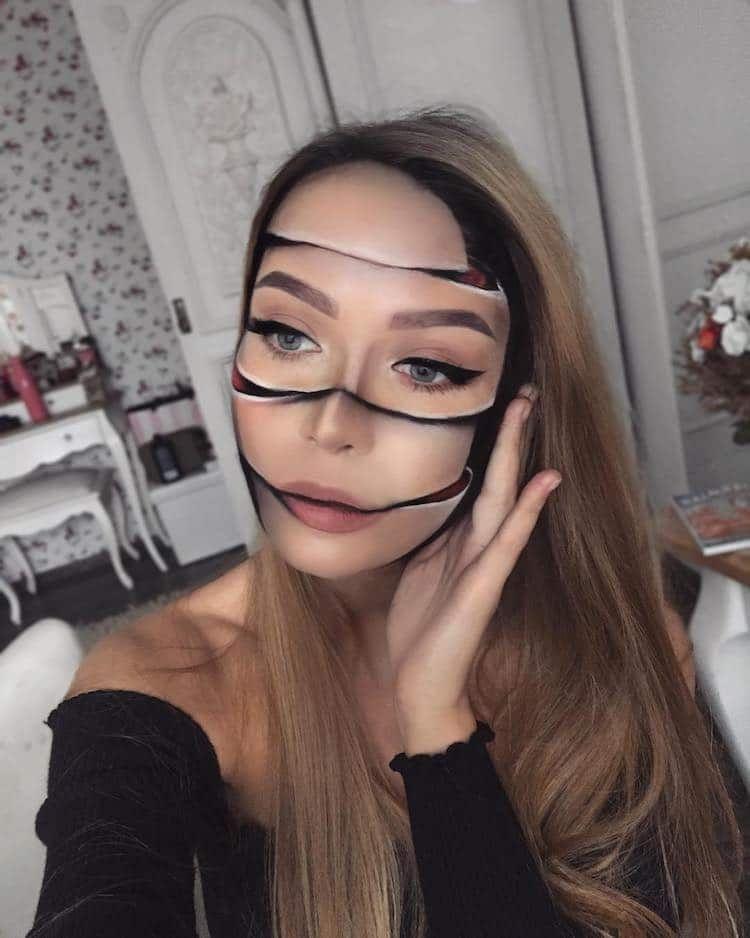 Special Effects Makeup Artist Subtly Transforms Her Face Into Striking Illusions Maquilhagem Assustadora Maquiagem Criativa Ideias De Maquiagem