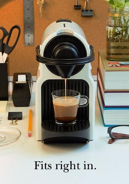 Inissia Pure White Coffee Machine Nespresso Home Coffee
