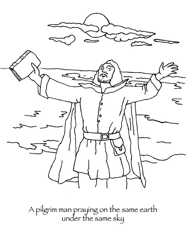 Thanksgiving Coloring Pages Pilgrim Man Praying People Coloring Pages Thanksgiving Coloring Pages Coloring Pages