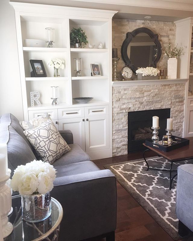 Stone Fireplace With Built In Cabinets: Hey Everyone, We Are Back From Vacation! It's Always So