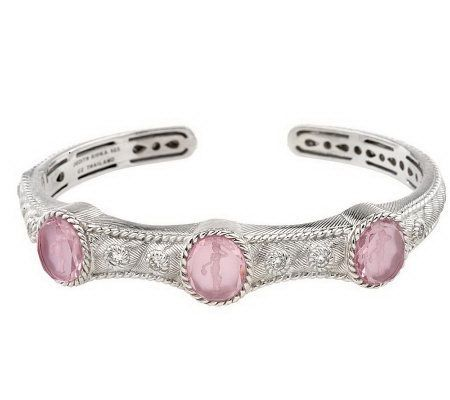 a99b38c9d87 Judith Ripka Sterling Intaglio Doublet Hinged Cuff in Pink | Judith ...