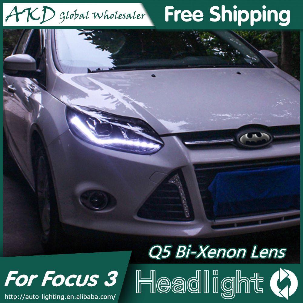 Akd Car Styling For Ford Focus  Led Headlights  New Focus Led Headlight Drl Bi
