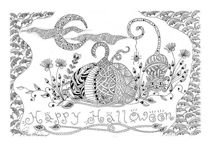 zentangle halloween art Google Search Halloween