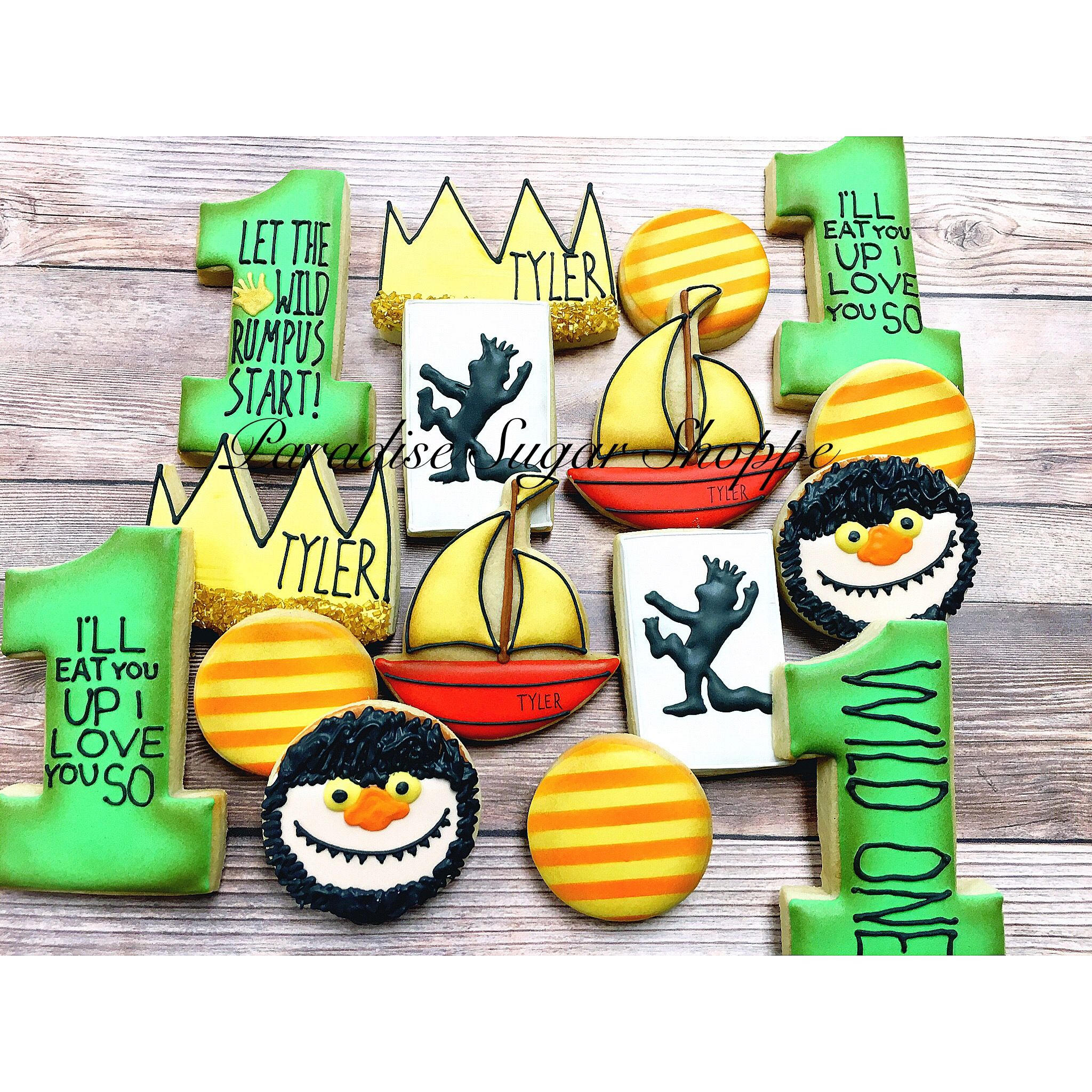 21 Cookies Where The Wild Things Are Ideas First Birthdays Wild One Birthday Party Birthday Cookies