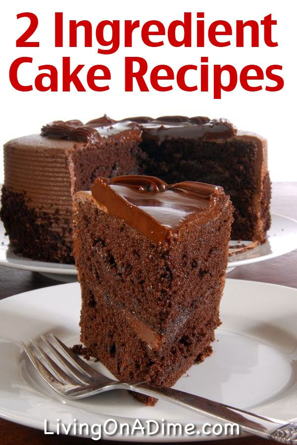 Easy Two Ingredient Cake Recipes Two Ingredient Cakes 2 Ingredient Cakes Cake Recipes